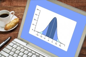 Normal Distribution Chart on laptop